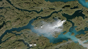 Peat fires in Greenland